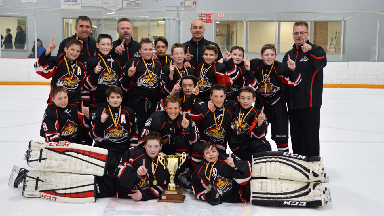 The 2005 Kootenay Warriors - 2017 Champs at the P3 Kodak Cup in Cochrane, AB